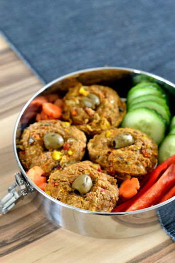 Rezept Herzhafte Gemüse-Muffins mit getrockneten Tomaten