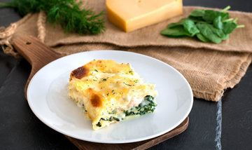 Rezept Herzhafte Lachs-Spinat-Lasagne