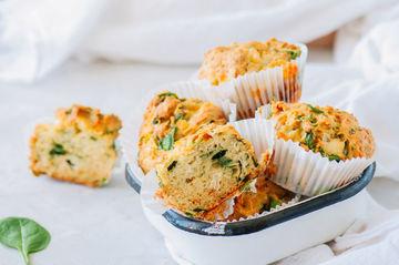 Rezept Herzhafte Spinat-Feta-Muffins