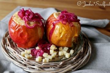Rezept Herzhafter Bratapfel