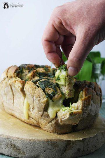 Rezept Herzhaftes Bärlauch Pull-Apart-Bread oder Bärlauch Zupfbrot