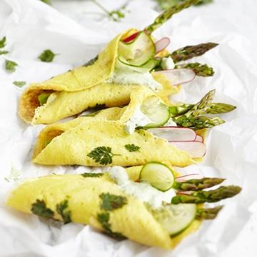 Rezept Hessisch Banh Xeo Wraps á la Frankfurter Grüne Soße