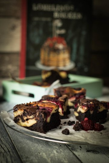 Rezept Himbeer Cheesecake Brownies