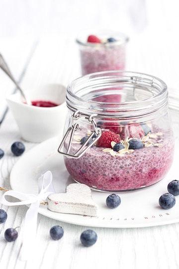 Rezept Himbeer-Chia-Pudding