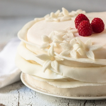 Rezept Himbeer-Fondant-Kuchen