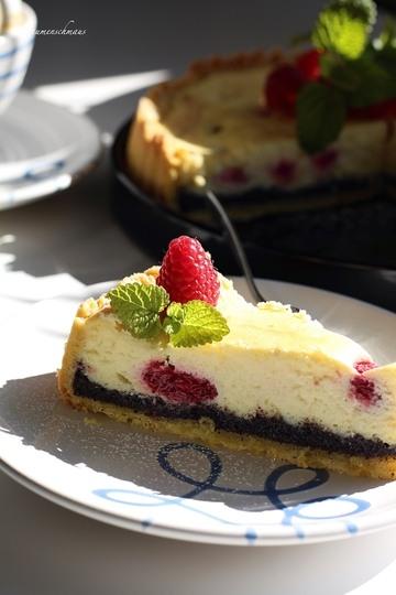 Rezept Himbeer-Mohn-Cheesecake