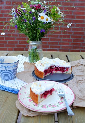 Rezept Himbeer-Rhabarber-Kuchen