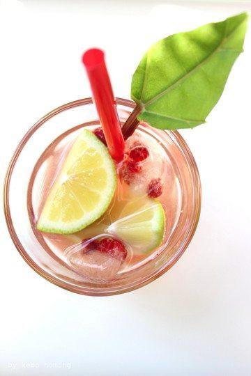 Rezept Himbeer-Rhabarber-Limetten-Sirup