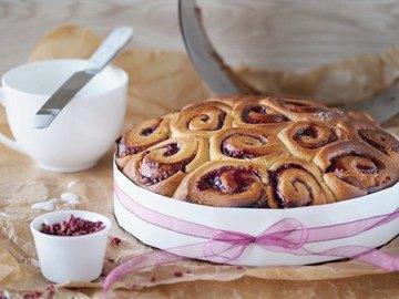 Rezept Himbeer-Rosenkuchen