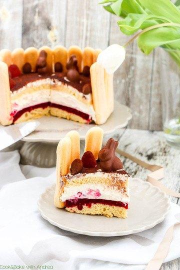 Rezept Himbeer-Sahne-Torte zu Ostern