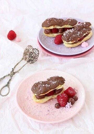 Rezept Himbeer Schokoladen Eclairs
