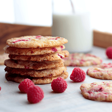 Rezept Himbeercookies
