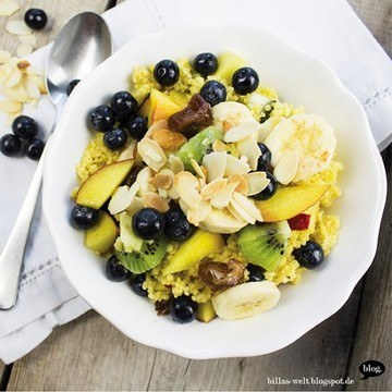 Rezept Hirsebrei mit Obst