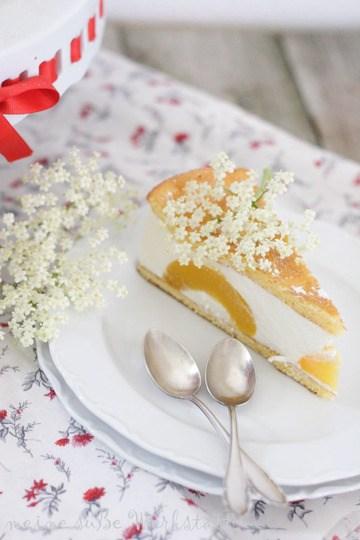Rezept Hollunderblüten-Pfirsichtorte