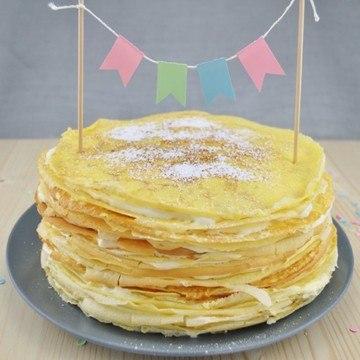 Rezept Holunder-Mousse-Crêpes-Torte