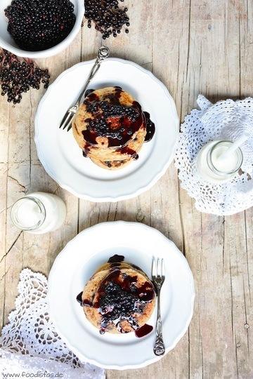 Rezept Holunderbeeren-Pancakes
