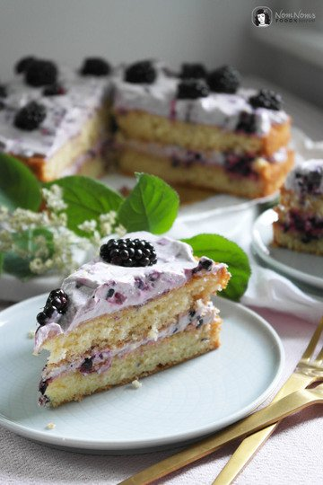 Rezept Holunderblüten-Brombeer-Kuchen