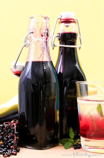 Rezept Holundersirup / Fliederbeersirup