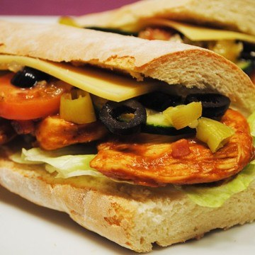 Rezept Homemade BBQ Chicken Sandwich