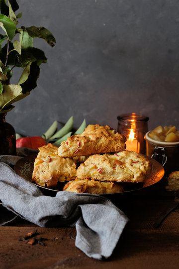 Rezept Honig-Apfel Scones mit Chai-Apfelkompott