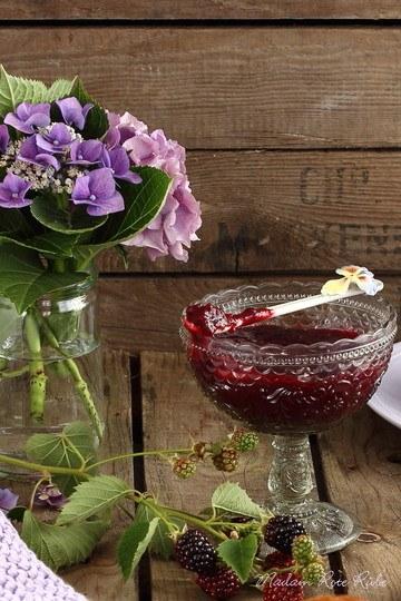 Rezept Honig-Brombeeraufstrich mit Vanille und Mandeln