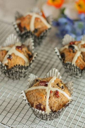 Rezept Hot Cross Muffins