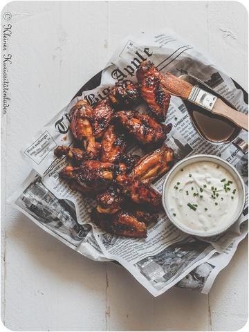 Rezept Hot Wings mit Crème-fraîche-Dip
