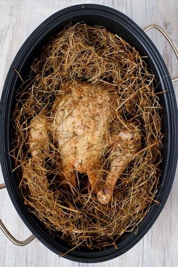 Rezept Huhn im Heubett