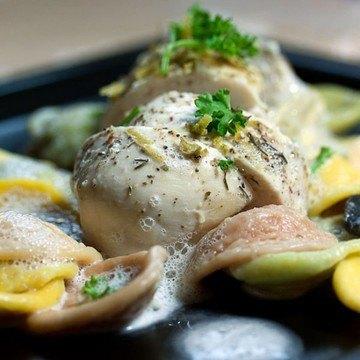 Rezept Hühnchenbrustfilet mit Orichiette und Zitronenschaum