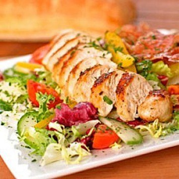 Rezept Hühnerbrust-Salat mit Kartoffel-Dressing