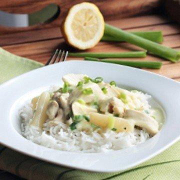 Rezept Hühnerfrikassée mit Reis