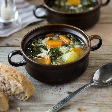 Rezept Hühnersuppe mit Grünkohl