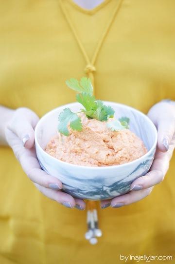 Rezept Hummus mit gerösteter Paprika