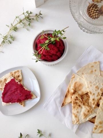 Rezept Hummus mit roter Beete