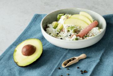 Rezept Hüttenkäse-Fitness-Salat