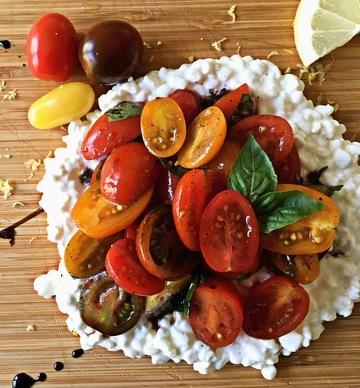 Rezept Hüttenkäse / Tomatensalat