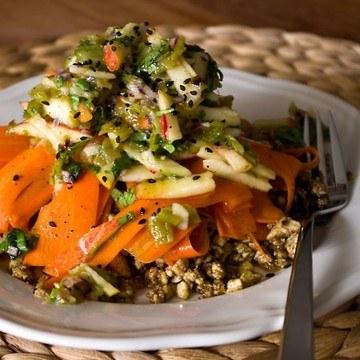 Rezept Indisch angehauchter Möhrensalat mit Tofu