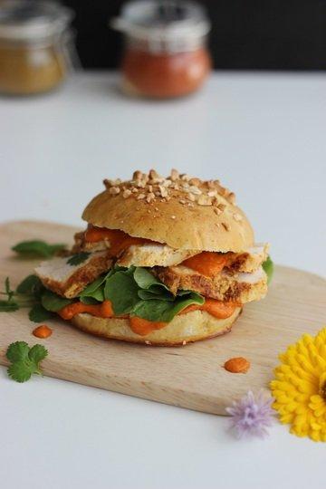 Rezept Indischer Burger im Butter Chicken Style mit Brioche-Burger-Buns