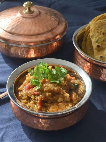 Rezept Indisches Auberginenpüree - Baingan ka bharta