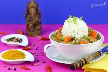 Rezept Indisches Dal aus roten Linsen mit Knoblauch und Koriander