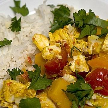 Rezept Indisches Fischcurry mit Kürbis