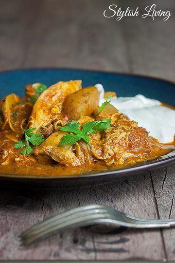 Rezept  Indisches Schmorgericht mit Hähnchen und Kartoffeln