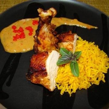 Rezept Indonesisches Grillhuhn mit Gewürzreis