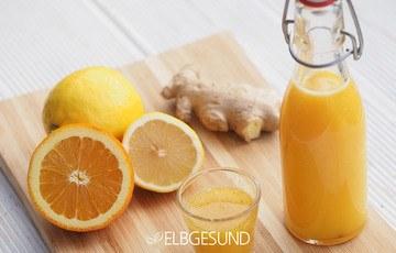Rezept Ingwershot mit Orange und Zitrone