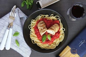 Rezept Involtini die Pollo auf Tomatensauce
