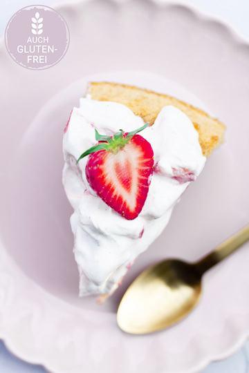 Rezept Irish-Cream-Cake mit Erdbeer-Quark