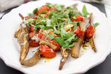 Rezept Italienische Mini-Auberginen mit Cherry-Tomaten
