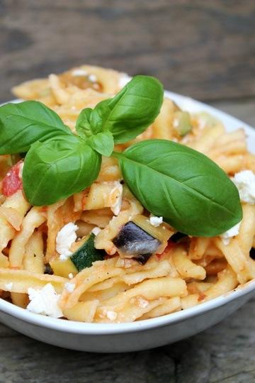 Rezept Italienische Spätzlepfanne mit Aubergine und Zucchini
