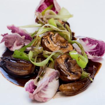 Rezept Italienischer Pilzsalat mit Lauch und Radiccio