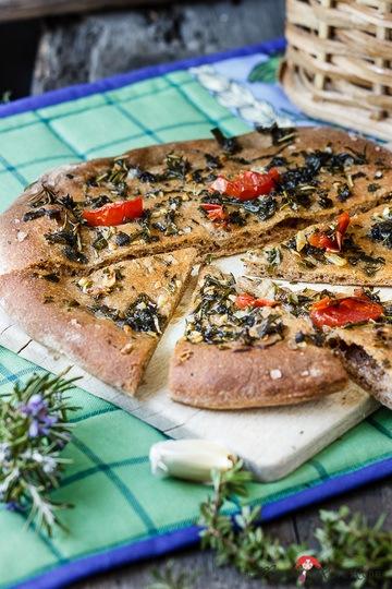 Rezept Italienisches Kräuterfladenbrot mit Knoblauch